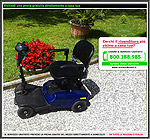 mini scooter per invalidi blu